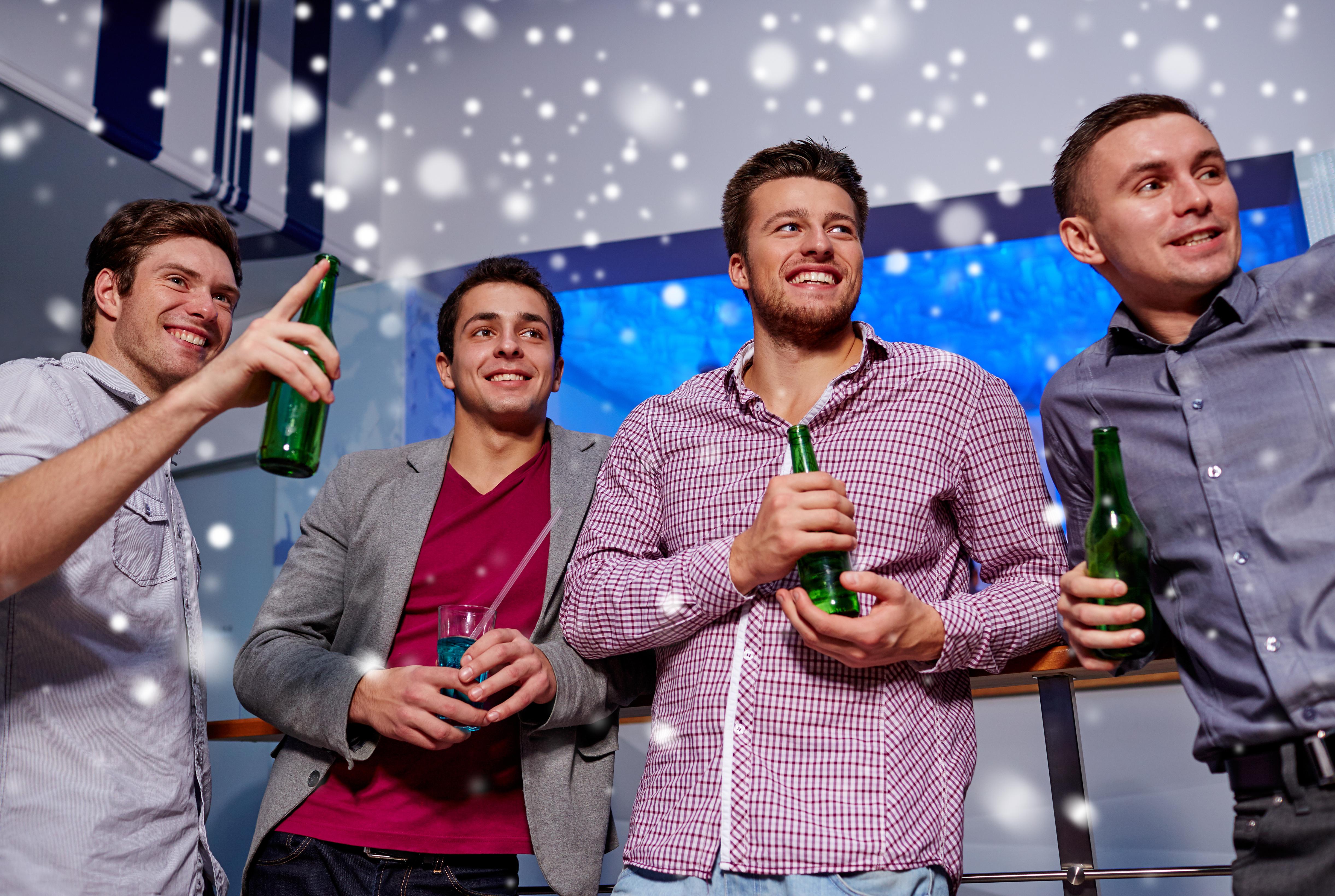 Four men at nightclub
